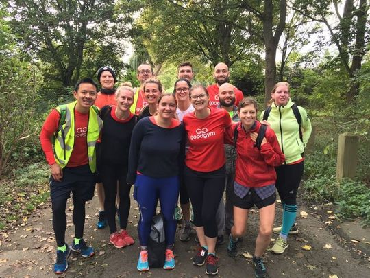 Goodgym does Hackney Marshes Parkrun
