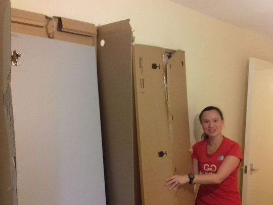 Two Goodgymers had an idea / To help with a wardrobe (Ikea)/ They got doors on at last / (and in truth had a blast) / Though instructions weren't perfectly clear!