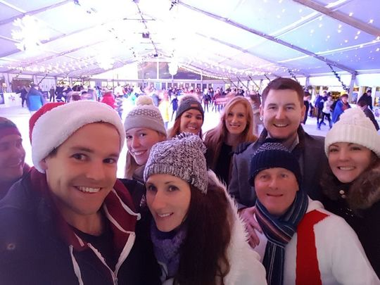 An ice time skating in Cardiffs Winter Wonderland