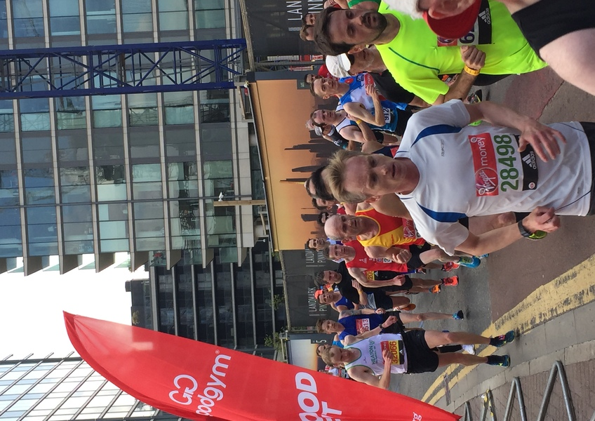 Snaps from London Marathon Canary Wharf