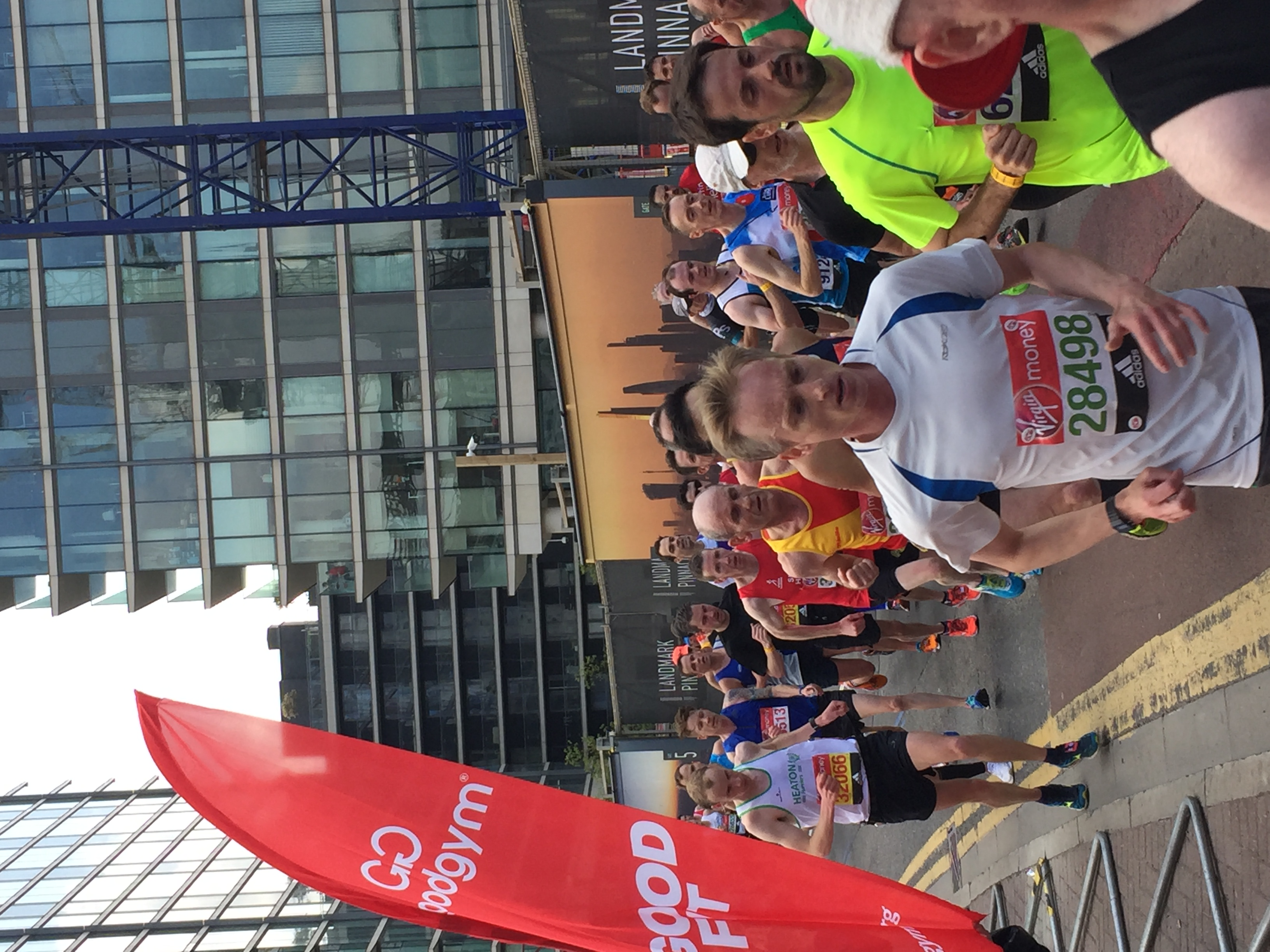 Snaps from London Marathon Canary Wharf