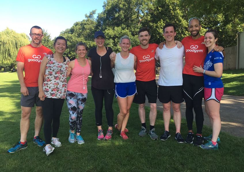 Wedding day parkrun - almost a GoodGym win!